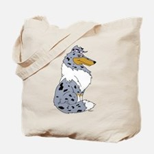 Blue Merle Rough Collie Tote Bag