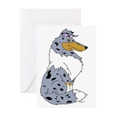 Blue Merle Rough Collie Greeting Card