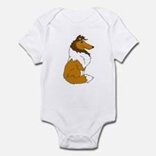 Sable Rough Collie Infant Bodysuit