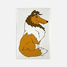 Sable Rough Collie Rectangle Magnet (10 pack)