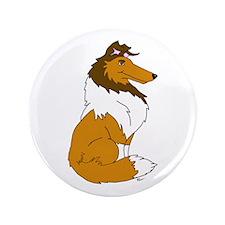 "Sable Rough Collie 3.5"" Button (100 pack)"