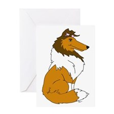 Sable Rough Collie Greeting Card