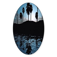 Blue Agave Oval Decal