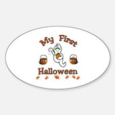 My First Halloween Oval Decal