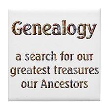 Genealogy Treasures Tile Coaster