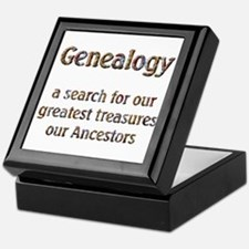 Genealogy Treasures Keepsake Box