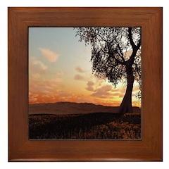 Sage Brush Framed Tile