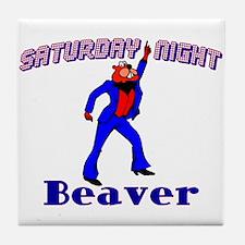 Disco Beaver Tile Coaster
