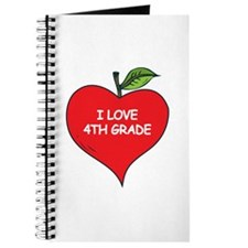 Heart Apple I Love 4th Grade Journal