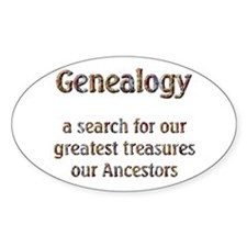 Genealogy Treasures Oval Decal
