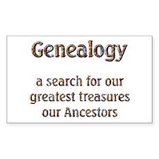 Genealogy Treasures Rectangle Decal