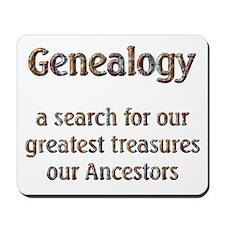 Genealogy Treasures Mousepad
