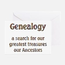 Genealogy Treasures Greeting Cards (Pk of 10)