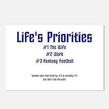 Life's Priorities Postcards (Package of 8)