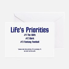 Life's Priorities Greeting Cards (Pk of 10)