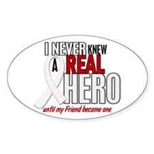 Never Knew A Hero 2 PEARL (Friend) Oval Decal