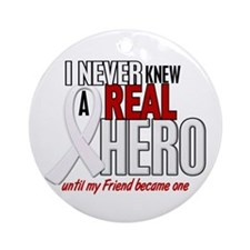 Never Knew A Hero 2 PEARL (Friend) Ornament (Round