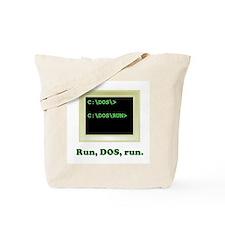 Run, DOS, Run Tote Bag