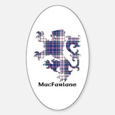 Lion-MacFarlane dress Sticker (Oval)