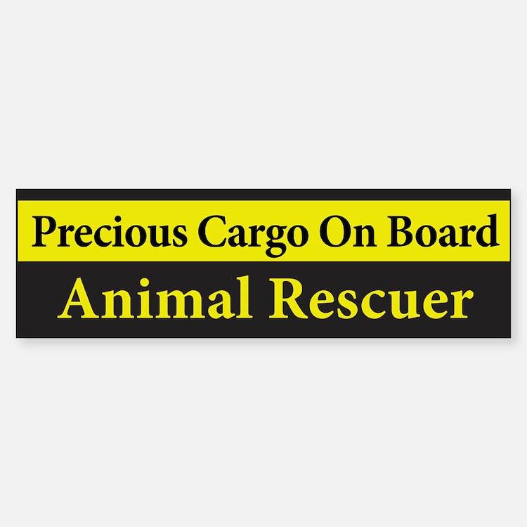 Animal Rescuer BumperBumper Bumper Sticker