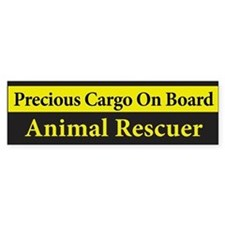 Animal Rescuer BumperCar Sticker