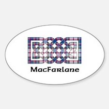 Knot-MacFarlane dress Sticker (Oval)