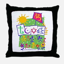 Kids LOVE Playground Throw Pillow