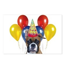 Happy Birthday boxer Postcards (Package of 8)