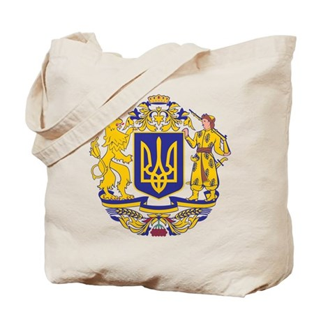 Ukraine Large Coat Of Arms Tote Bag