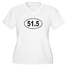 51.5 Womes Plus-Size V-Neck T-Shirt
