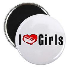 I heart Girls Magnet