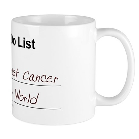 My To-Do List (Breast Cancer) Mug