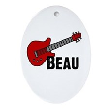 Guitar - Beau Oval Ornament