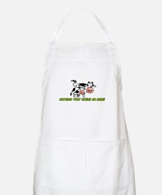 nothing that chews or moos BBQ Apron