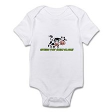 nothing that chews or moos Infant Bodysuit