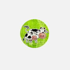 cow and calf Mini Button