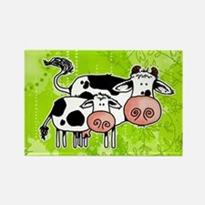 cow and calf Rectangle Magnet