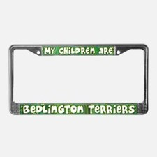 My Children Bedlington Terrier License Plate Frame