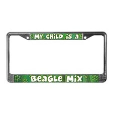 My Kid Beagle Mix License Plate Frame