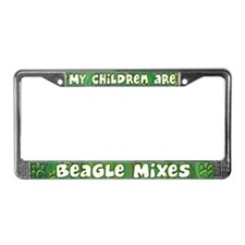 My Children Beagle Mix License Plate Frame
