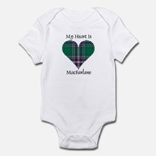 Heart-MacFarlane hunting Infant Bodysuit