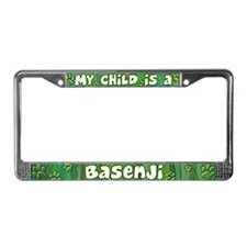 My Kid Basenji License Plate Frame