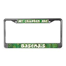 My Children Basenji License Plate Frame