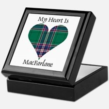 Heart-MacFarlane hunting Keepsake Box