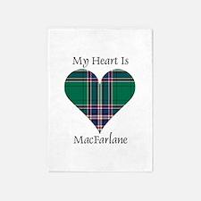 Heart-MacFarlane hunting 5'x7'Area Rug