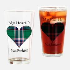 Heart-MacFarlane hunting Drinking Glass
