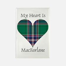 Heart-MacFarlane hunting Rectangle Magnet