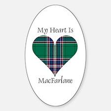 Heart-MacFarlane hunting Sticker (Oval)