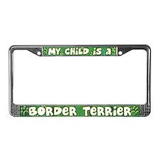 My Kid Border Terrier License Plate Frame