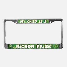 My Kid Bichon Frise License Plate Frame
